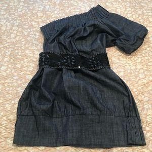 Boutique Denim Dress with Belt